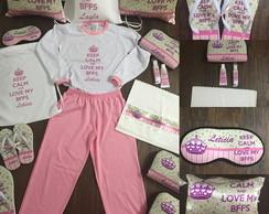 c48c1a830c6c77 Kit Chinelo e Pijama Camuflado Longo e Kit Higiene | Elo7