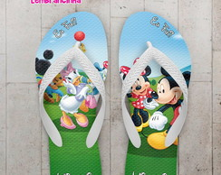 Chinelo Casa do Mickey Festa Infantil
