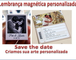 SAVE THE DATE imã personalizado