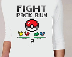 CAMISETA FEMININA 3/4 - FIGHT PACK RUN