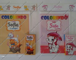 Kit Colorir Gatinha Marie e Aristogatos