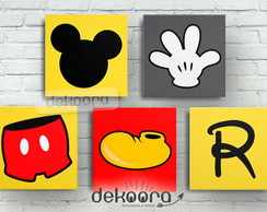 Quadros Decorativos Mickey (20X20)