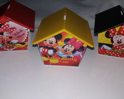Casinha Cofrinho Minnie e mickey