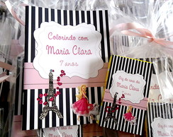 Mini Kit Colorir barbie paris 10x14cm