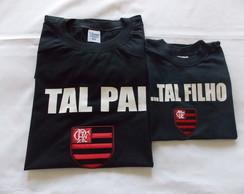 Camiseta Pai e Filho Kit Tal Pai Tal Filho Flamengo G76  a3632f8b4c17a