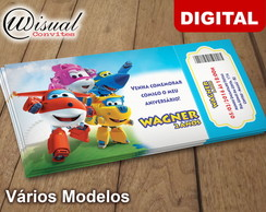 Convite Digital Super Wings
