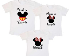 Kit 3 Camiseta Mickey Aniversario