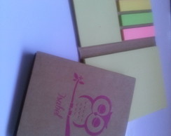 Bloco com mini post- it personalizado