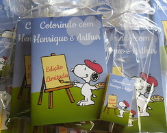 Kit Colorir Snoopy 14x20cm