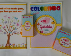 revista para colorir, kit massinha