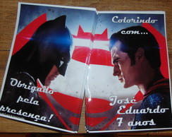 Livro de Colorir Batman Superman 15x20