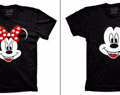 Kit com duas Camiseta Mickey e Minnie