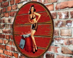 Placa Redonda Pin Up Dressing
