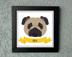 Quadrinho Decorativo Pug