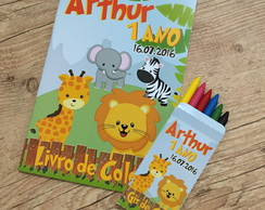 Kit de Colorir Safari Baby Modelo 2