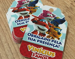 Tag de Agradecimento Super Wings
