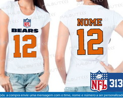 Baby Look Chicago Bears NFL Futebol