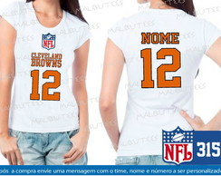 Baby Look Cleveland Browns NFL Futebol
