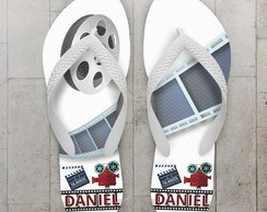 Chinelo Infantil Tema Cinema