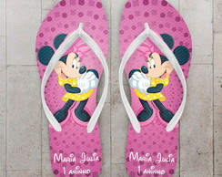 Chinelo Infantil Minnie Rosa