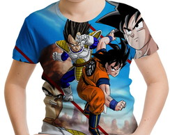 Camiseta Infantil Dragon Ball Goku MD05