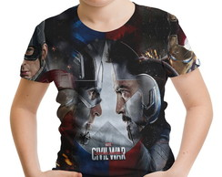 Camiseta Infantil Guerra Civil Marvel