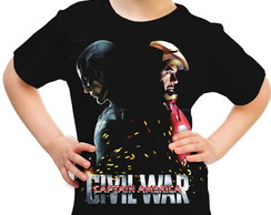 Camiseta Infantil Guerra Civil Marvel 04