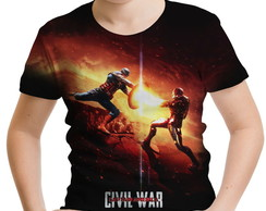 Camiseta Infantil Guerra Civil Marvel 05
