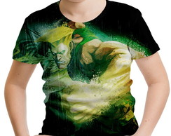 Camiseta Infantil Guile Street Fighter