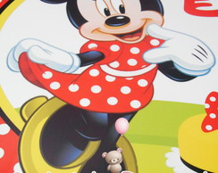 Placa Elipse PVC Minnie