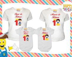 Kit camiseta com Body Princesas