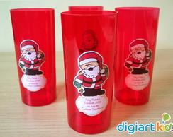 Copo Long Drink Papai Noel - Natal