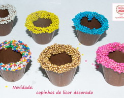Copinhos decorados chocolate