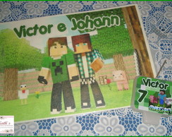 Papel Arroz + Vela MINECRAFT