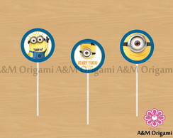 Toppers para cupcake - Minions