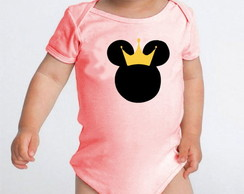 Body de bebê minnie princesa