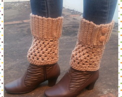 Mini polaina Crochê (Boot cuffs)