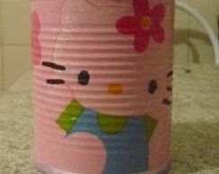 Porta treco lata decoupage Hello Kitty