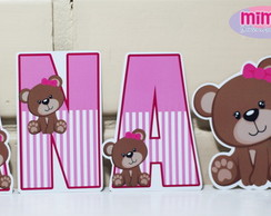 Display Letra papel 15 cm Ursinha