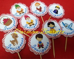 TOPPER DOCES E CUP CAKE