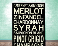 Placa Decorativa - Wine!