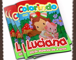 Revista de colorir Moranguinho Baby