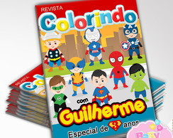 Revista de colorir Super Heróis Baby