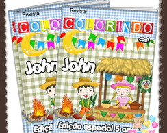 Revista de colorir Arraiá-Festa Junina