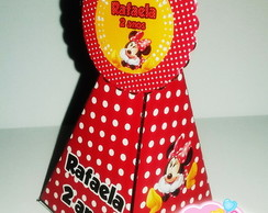 Cone com aplique scalope Minnie