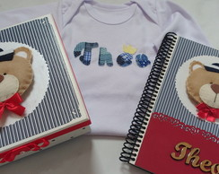 Kit Caixinha + Caderno do Bebe + Body