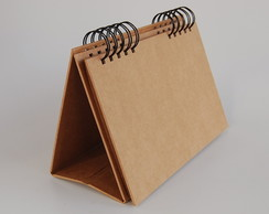 Mini-album de mesa kraft - para decorar
