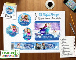 Kit Digital FROZEN com 5 Artes +1 Brinde