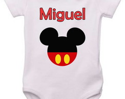 Body Infantil disney mickey com nome