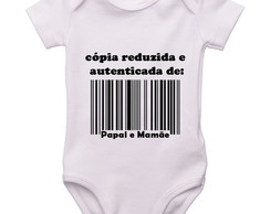 Body Infantil copia papai e mamãe
